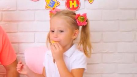 小萝莉亲手给爸爸做生日蛋糕,有这样的女儿才是人生赢家吧