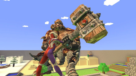 GMOD游戏迪迦奥特曼把怪兽的锤子抢过来了吗?