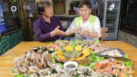 美食达人:体验长岛海鲜宴,用料十分名贵,看得人流口水