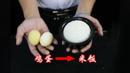 魔术表演:空碗变出一碗米饭,米饭藏在哪里呢?简直太不可思议了