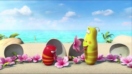 爆笑虫子:黄虫的门牙狂抖,啃出一片片心形海带
