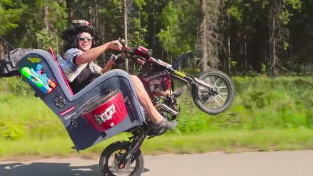 奇葩必备的玩具,首款夏季轻便的摩托车,普通的摩托车弱爆了的感觉