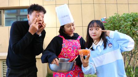 学校食堂打饭,根据学生的眼睛大小决定饭量,长见识了