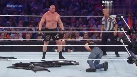 wwe2017摔跤狂热大赛33 WWE 第32届摔跤狂热 无禁招赛安布罗斯vs莱斯纳