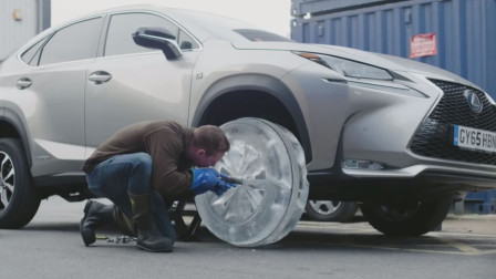 雷克萨斯汽车恶搞创意,用冰块做轮胎,造外星机器人当销售经理!