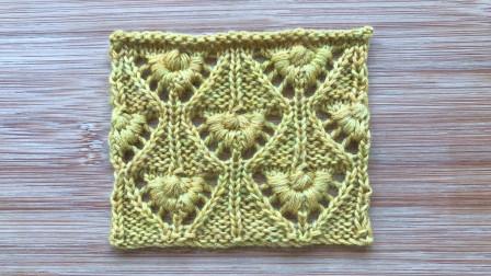 一款简洁立体的菱格花样,织法独特,织开衫和围巾都漂亮手工编织款式