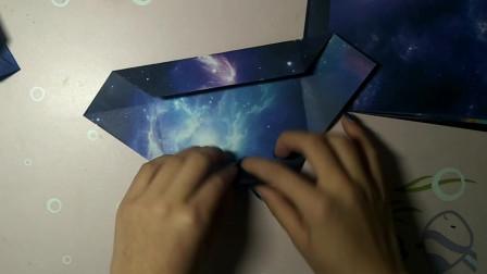 手工折纸,小姐姐教你用卡纸做心型盒子,真漂亮