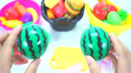 卡通益智玩具烹饪水果汉堡模型