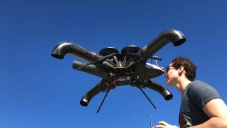 墨西哥设计师发明新型无人机,没有了螺旋桨,更加安全无噪音!