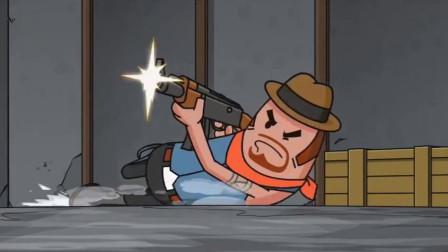 搞笑吃鸡动画:霸哥大杀四方,结果却在打急救包时被偷袭,太悲剧了