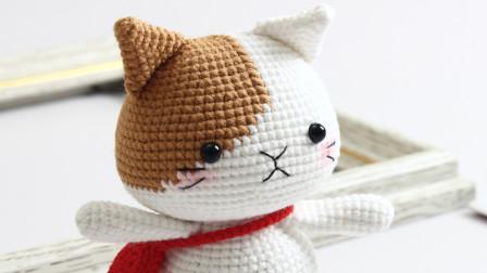 胖丫手作第168集咖色小猫手臂耳朵缝合编织方法教程