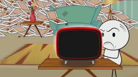 悲催的铅笔人被和电视机杠上了,竟然还假装自己是超人!铅笔画小人游戏