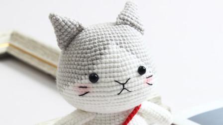 胖丫手作第169集灰色小猫耳朵手臂和缝合花样图片
