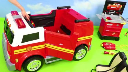 户外拼装红色闪电麦昆玩具跑车