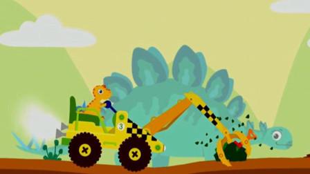 恐龙挖掘机 爪子手挖掘机 恐龙岛探险寻宝 剑龙来了 超级英雄历险记 陌上千雨解说