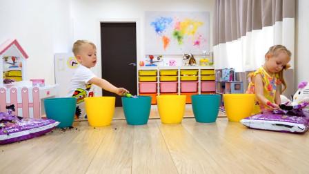 萌娃小可爱们在家播种玩具两个小家伙可真是会玩呢萌娃我们成功啦