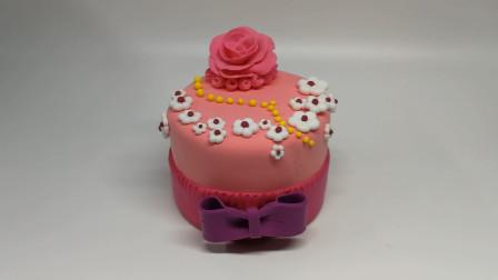 第70课:《彩泥蛋糕——浪漫玫瑰》,天才计划diy手工坊
