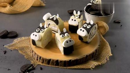 用奥利奥做成的蛋糕卷,还是可爱的小动物形状