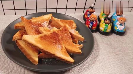 自制蜂蜜吐司片,美味营养早餐