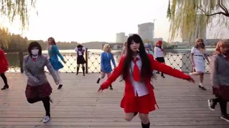 美女舞蹈:二次全职女高魔性二次元广场舞!谜一样的广播体操!