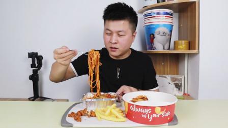 """67元必胜客新品""""阿根廷红虾面""""配上六种小食,这样点外卖真划算"""