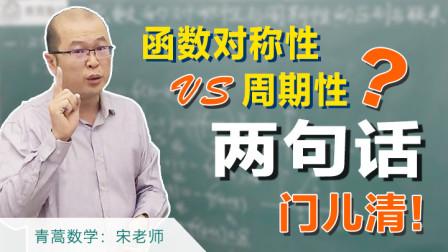 高中数学难重点:函数的对称性与周期性,傻傻分不清?两句话门儿清!