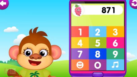 亲子早教学英语3为幼儿和儿童玩数学数字游戏