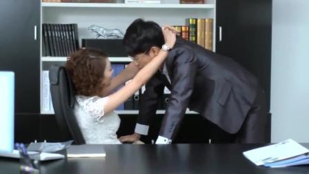 老总和老总办公室亲吻,还不关门,胆子太大了