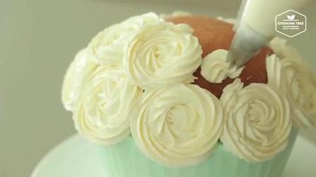 【Cooking Tree ASMR】梦幻的花朵蛋糕 Flower Cake