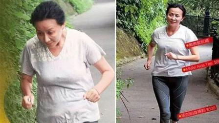 54岁刘嘉玲晨跑,素颜苍老尽显!遇镜头连忙害怕躲避