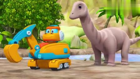 帮帮龙:波奇发现恐龙居住问题,让恐龙找到高地居住,自己去探险