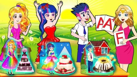 紫悦和艾达琪pk做披萨,谁的最厉害呢?小马国女孩游戏