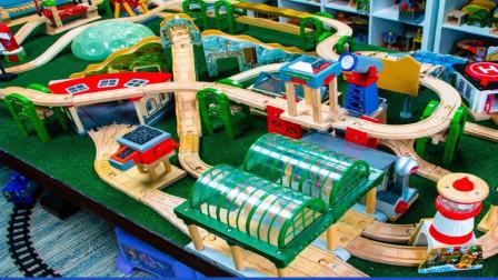 拼装积木城市列车托马斯小火车轨道玩具
