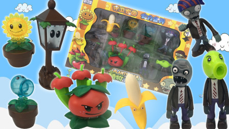 植物大战僵尸拆箱玩具!苹果迫击炮和变异豌豆僵尸玩具