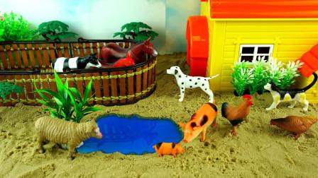 为绵羊奶牛等农场小动物搭建小房子