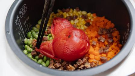 专属懒人的电饭煲美味番茄饭,只要一个步骤,好吃到让人刮锅底