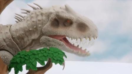 超搞笑白色暴龙欺负恐龙宝宝每次都被狠狠教训