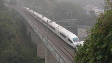 G8712成都东-万州北通过郑渝高铁梁平段国道318下16:22