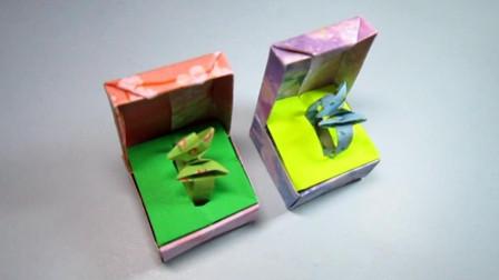 手工折纸, 戒指盒子的折法, 好有创意简单漂亮一学就会