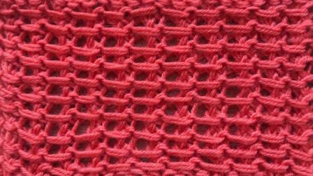 一款棒针实地花样的编织视频,简单好织,给儿童织背心很漂亮大全图解