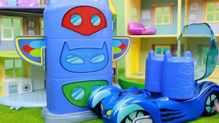 睡衣小英雄史莱姆惊喜盒猫车送来的小礼物