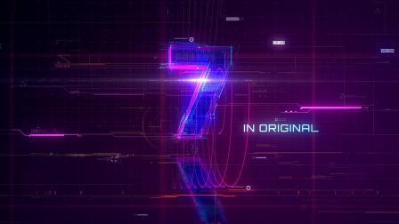 AE模板-科技感10秒倒计时演绎标志Logo开场23709123