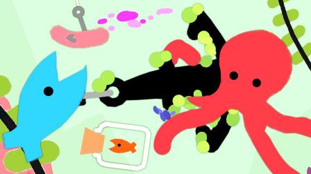 小鱼模拟器 湖里的小鱼生活真艰辛,还有章鱼怪! 小熙解说