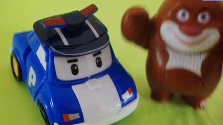 变形警车珀利玩具:警车珀利消防车罗伊