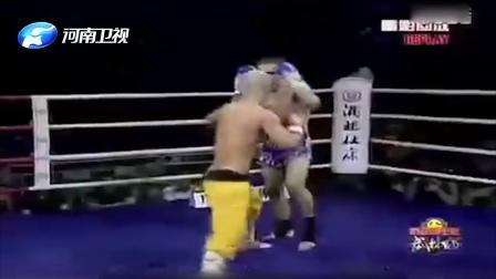 武僧一龙对战外国拳王少林本色展露