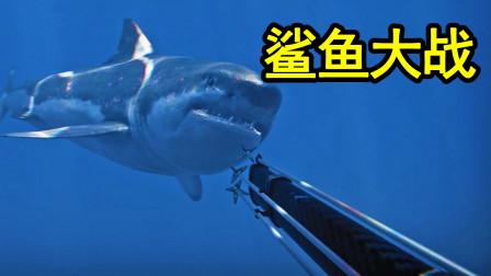 周围有100头鲨鱼,你只有一把弓弩,该如何生存?