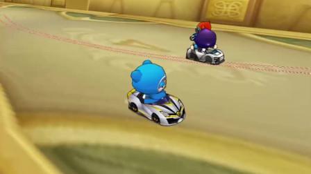 跑跑卡丁车:开局让8秒怎么追?主播:告诉你,什么叫连喷跑法!