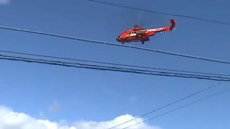 日本一直升机台风救援时失误 老妇从40米高空坠落