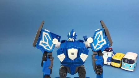 迷你特工队玩具开箱:弗特的机甲变形完成 我们一起来装扮吧
