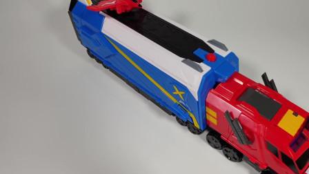 迷你特工队玩具开箱:重卡带着迷你特工队机甲来啦 赛米好开心